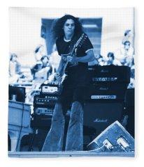 Allen Collins In Blue Oakland 1975 Fleece Blanket