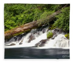 Allen Springs On The Metolius River Fleece Blanket
