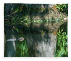 Alligator Canal Fleece Blanket