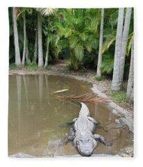 Alligator  Fleece Blanket