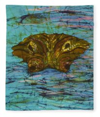 Alligator Eyes Fine Art Batik Fleece Blanket