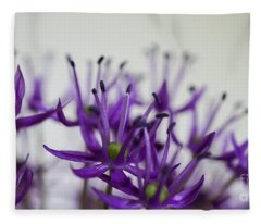 Allium Aflatunense Sideview Fleece Blanket