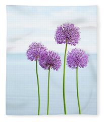 Alliums 2 Fleece Blanket