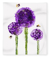Alliums Humming Fleece Blanket