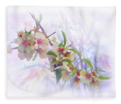 Almond Blossoms Fleece Blanket