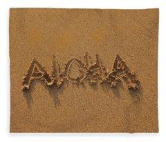 Aloha In The Sand Fleece Blanket
