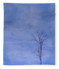 Alone Against The Storm Fleece Blanket