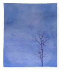 Alone Against The Storm Fleece Blanket