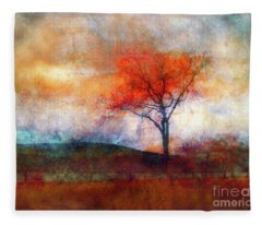 Alone In Colour Fleece Blanket