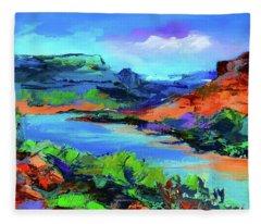 Along Colorado River - Utah Fleece Blanket