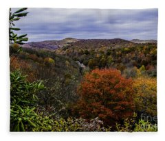 Along The Blue Ridge Parkway Fleece Blanket