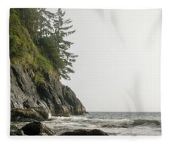 Along The Coast Fleece Blanket
