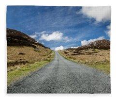 Along The Mountain Road Fleece Blanket