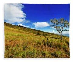 Fleece Blanket featuring the photograph Along The Mountain Slopes by Pradeep Raja Prints