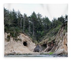 Along The Oregon Coast - 2 Fleece Blanket