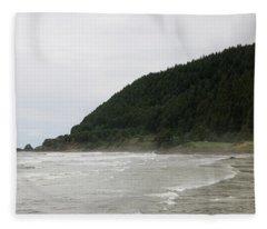 Along The Oregon Coast - 4 Fleece Blanket