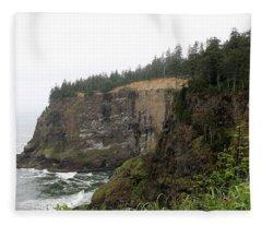 Along The Oregon Coast - 8 Fleece Blanket