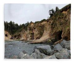 Along The Oregon Coast  Fleece Blanket