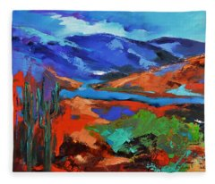 Along The Trail - Arizona Fleece Blanket