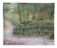 Along The Trail, Life Happens Fleece Blanket