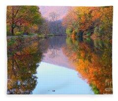 Along These Autumn Days Fleece Blanket