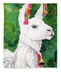 Alpaca With Attitude Fleece Blanket