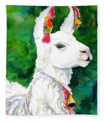 Alpaca With Attitude Fleece Blanket