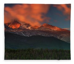 Alpenglow Sunrise Fleece Blanket