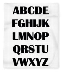 Alphabet T-shirt Fleece Blanket
