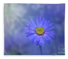 Alpine Aster With Overlay Fleece Blanket