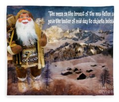 Alpine Santa Card 2015 Fleece Blanket