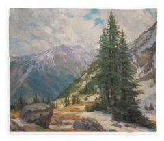 Alpine Spring  Fleece Blanket