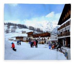 Alps Ski Piste Fleece Blanket