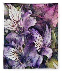 Alstroemeria Fleece Blanket