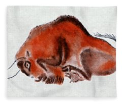 Altamira Prehistoric Bison At Rest Fleece Blanket