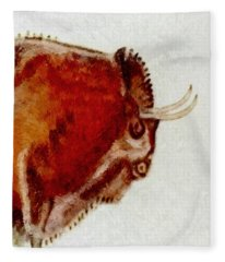 Altamira Prehistoric Bison Detail Fleece Blanket
