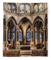 Paris, France - Altar - Saint-severin Fleece Blanket