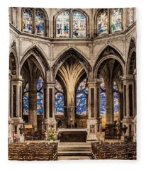 Paris, France - Altar - Saint-severin Fleece Blanket