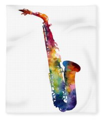 Alto Sax Fleece Blanket