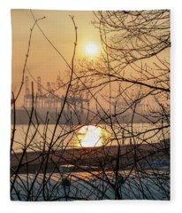 Altonaer Balkon Sunset Fleece Blanket
