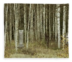 Alvarado Cemetery 42 Fleece Blanket