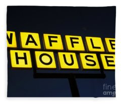 Always Open Waffle House Classic Signage Art  Fleece Blanket