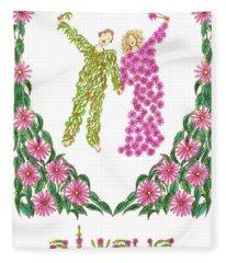Always Together Anniversary Card Fleece Blanket