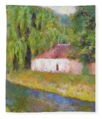 Am Fluss In Sentfenberg Wachau Fleece Blanket