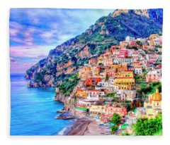 Amalfi Coast At Positano Fleece Blanket