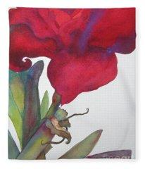 Amaryllis 2 Fleece Blanket