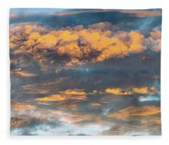 Clouds Of A Different Color Fleece Blanket