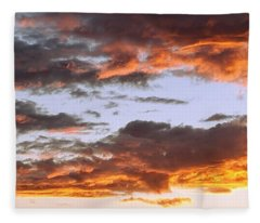 Glorious Clouds At Sunset Fleece Blanket