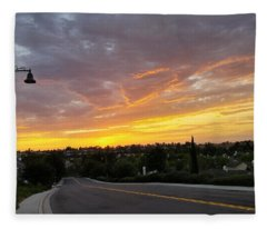 Colorful Sunset In Mission Viejo Fleece Blanket