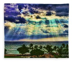 Amazing Grace - Sun Rays Before Sunset By Diana Sainz Fleece Blanket